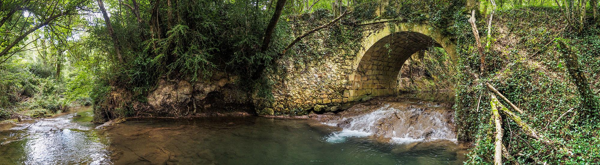 Ruta del agua. Foto panorámica