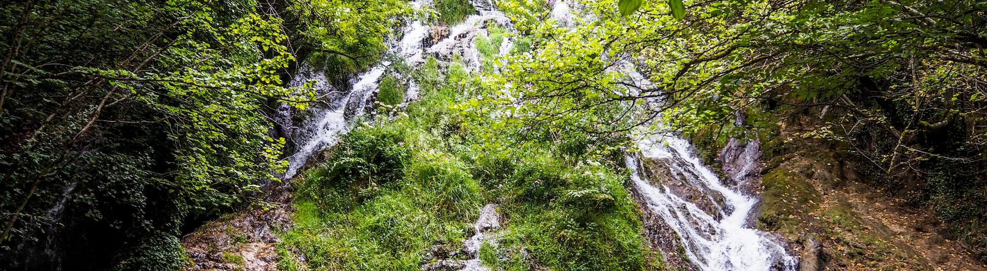 Ruta del agua. Cascada de Herrerías
